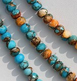Turquoise Gemstone Faceted Rondelle