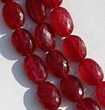 Ruby Gemstone Oval Faceted