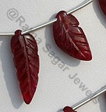 Ruby Gemstone Carved Beads