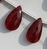 Ruby Gemstone Flat Pear Briolette