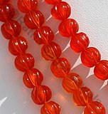 Carnelian Gemstone Carved Beads