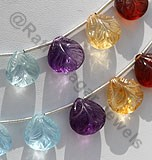Semi Precious Gemstone Carved Beads