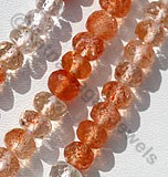 Sunstone Gemstone  Faceted Rondelles