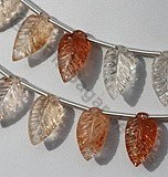 Sunstone Carved Leaf
