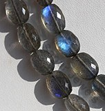 Labradorite Blue Power Oval Faceted Beads