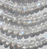 Rainbow Moonstone Faceted Rondelles