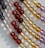Semi Precious Gemstone Multi plain Rondelle