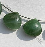 Nephrite Cats Eye Heart Briolette