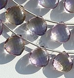 Ametrine Gemstone Beads  Heart Briolette