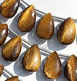 Tiger Eye Flat Pear Briolette