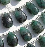 Emerald Gemstone Flat Pear Briolette