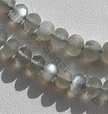 Grey Moonstone  Faceted Rondelle