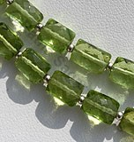 Peridot Faceted Rectangle