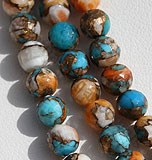 Turquoise Gemstone Faceted Round
