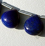 Lapis Gemstone Heart Plain