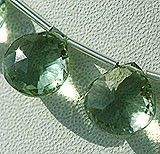 Green Amethyst Gemstone Concave Cut Heart