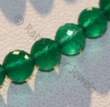 Green Onyx  Faceted Rounds