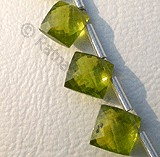 Vesuvianite  Puffed Diamond Cut