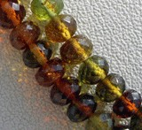 Tourmaline Gemstone Beads  Faceted Rondelle