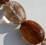Copper Rutilated Quartz  Oval Faceted