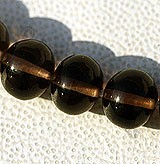 Smoky Quartz Gemstone Plain Beads