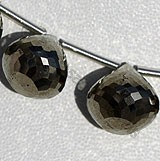 Pyrite Beads Onion Shape