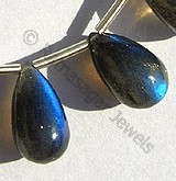 Labradorite Gemstone Tear Drops Plain