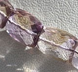 Ametrine Gemstone Beads  Faceted Rectangles