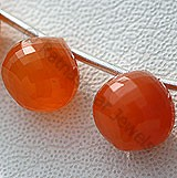 Carnelian Gemstone  Onion Shape