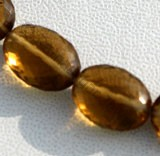 Cognac Quartz  Oval Faceted