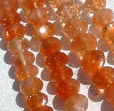 Sun Stone Oregon  Faceted Roundels