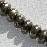 Pyrite Beads  Faceted Rondelles