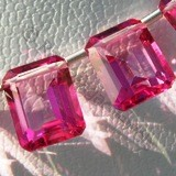 Pink Topaz Gemstone Octagons