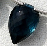 Blue Topaz Gemstone Conch Briolette