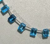 Blue Topaz Gemstone Octagons