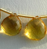 Honey Quartz Heart Briolette