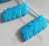 Turquoise Gemstone Carved Beads