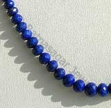 Lapis Gemstone  Faceted Roundels