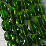 Chrome Diopside  Oval Faceted Beads