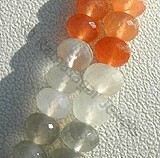 Peach Moonstone Faceted Rondelles