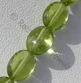 Peridot Gemstone Beads  Oval Plain
