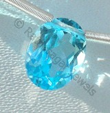 Blue Topaz Gemstone  Oval Faceted