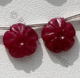 Ruby Gemstone Gemstone Flower Beads