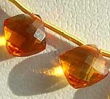 Citrine Gemstone  Puffed Diamond Cut