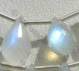 Rainbow Moonstone  Tear Drops Briolettes