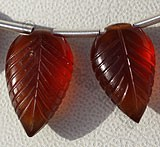 Spessartite Gemstone  Carved Leaf