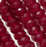 Ruby Gemstone  Faceted Rondelle