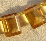 Citrine Gemstone  Octagons