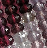 Multi Spinel  Faceted Rondelles