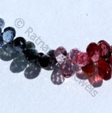 Multi Spinel  Tear Drops Briolette